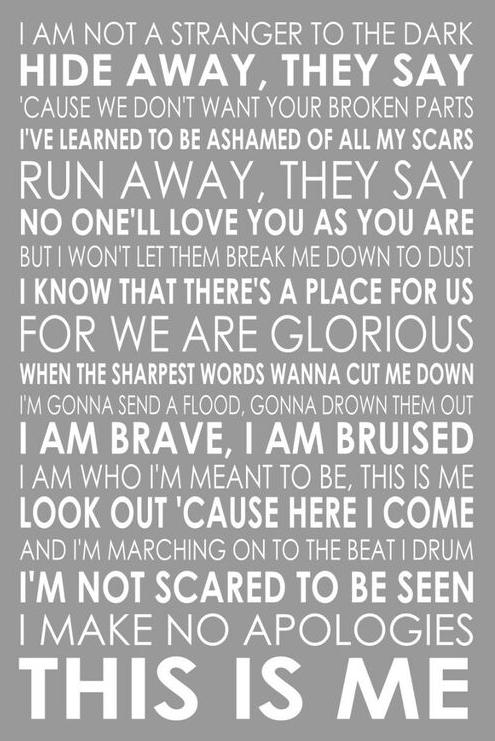 Lyrics to This is ME!